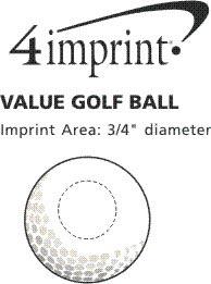 Imprint Area of Bulk Golf Ball - Dozen
