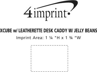 Imprint Area of Leatherette Desk Caddy - Assorted Jelly Beans