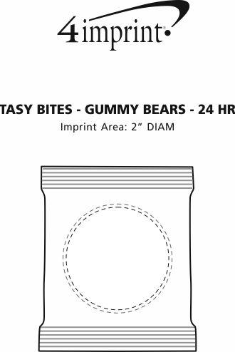 Imprint Area of Tasty Bites - Gummy Bears - 24 hr