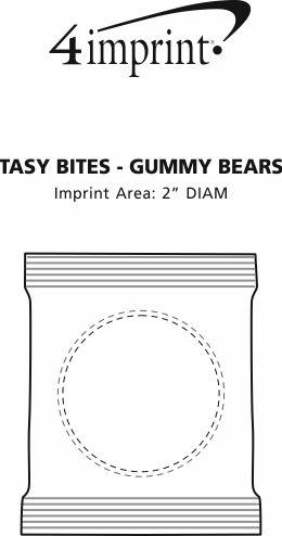 Imprint Area of Tasty Bites - Gummy Bears