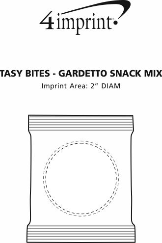 Imprint Area of Tasty Bites - Gardetto's Snack Mix