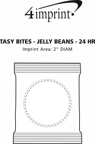 Imprint Area of Tasty Bites - Assorted Jelly Beans - 24 hr