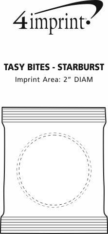 Imprint Area of Tasty Bites - Starburst