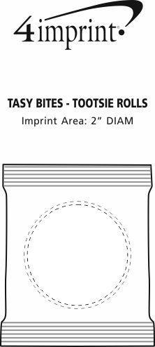 Imprint Area of Tasty Bites - Tootsie Rolls