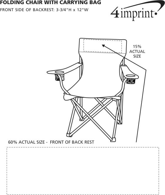 Imprint Area of Folding Chair with Carrying Bag