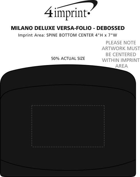 Imprint Area of Milano Deluxe Versa-folio - Debossed