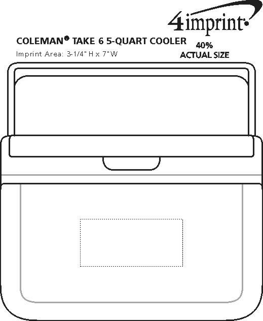 Imprint Area of Coleman FlipLid Cooler