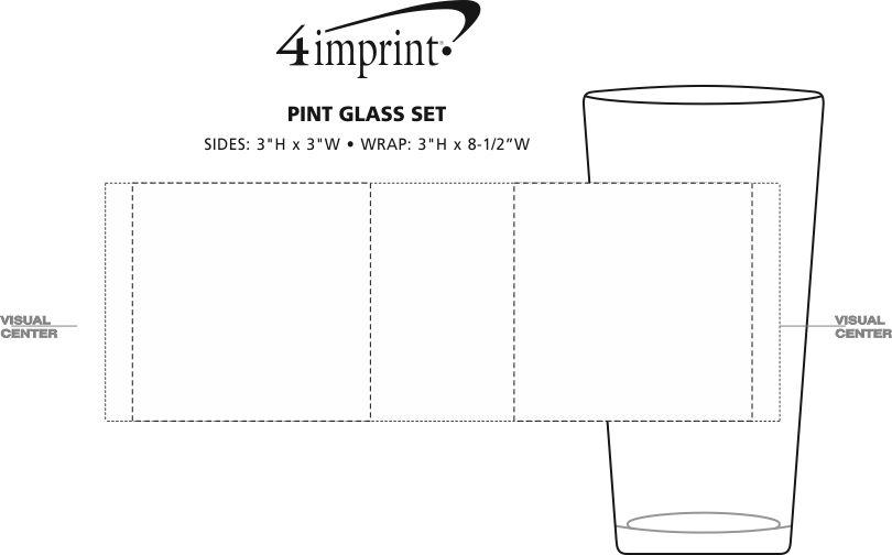 Imprint Area of Pint Glass Set