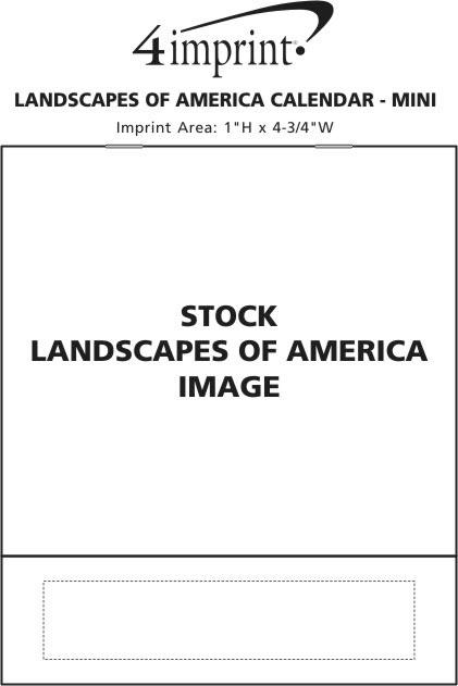 Imprint Area of Landscapes of America Calendar - Mini