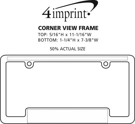 Imprint Area of Corner View Frame
