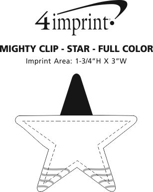 Imprint Area of Mighty Clip - Star - Full Color