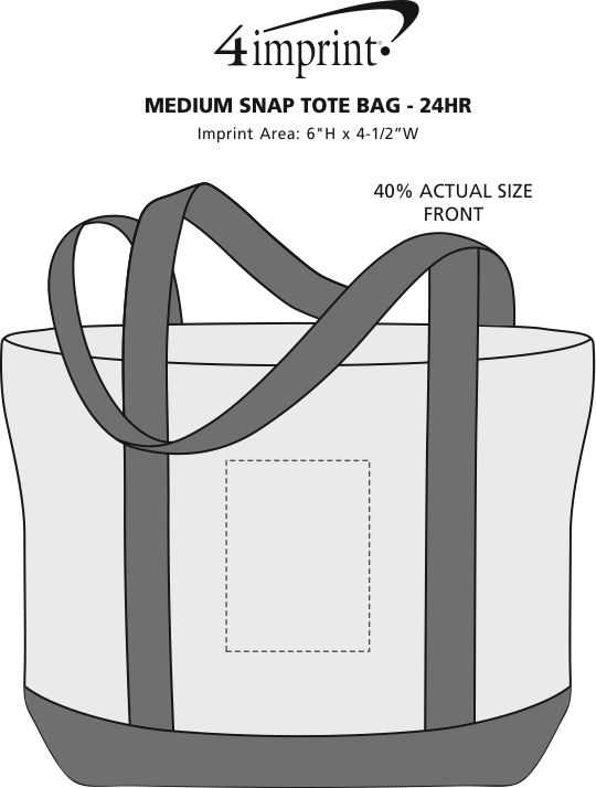 Imprint Area of Marketplace Tote Bag - Screen - 24 hr