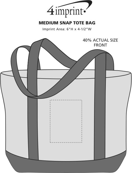Imprint Area of Marketplace Tote Bag - Screen