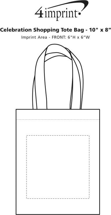 "Imprint Area of Celebration Shopping Tote Bag - 10"" x 8"""