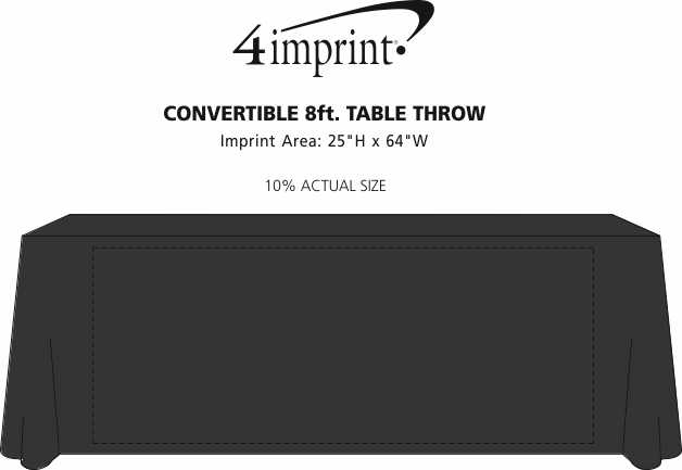 Imprint Area of Serged Convertible Table Throw - 6' to 8'
