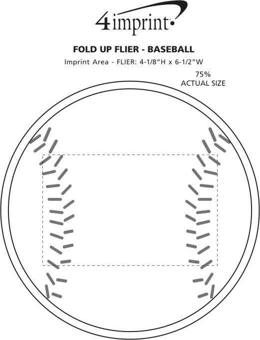 Imprint Area of Fold Up Flyer - Baseball