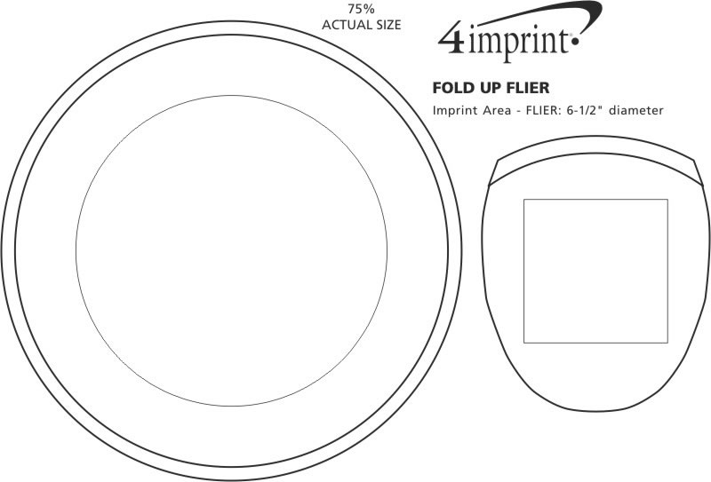Imprint Area of Fold Up Flyer