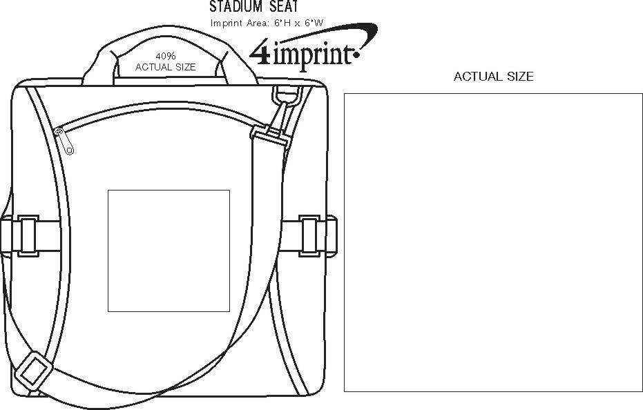 Imprint Area of Stadium Seat