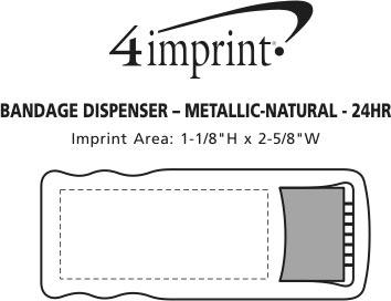 Imprint Area of Bandage Dispenser - Metallic - Natural - 24 hr