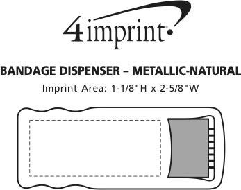Imprint Area of Bandage Dispenser - Metallic - Natural