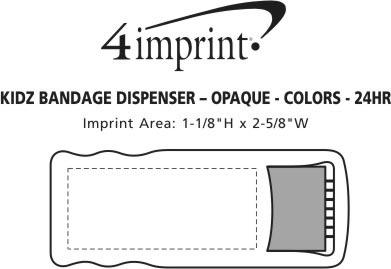 Imprint Area of Bandage Dispenser - Opaque - Colors - 24 hr