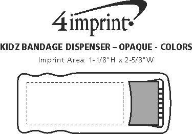 Imprint Area of Bandage Dispenser - Opaque - Colors