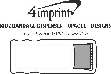 Imprint Area of Bandage Dispenser - Opaque - Designs
