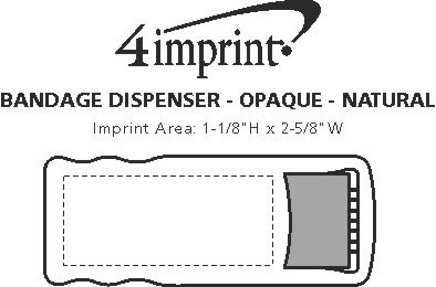 Imprint Area of Bandage Dispenser - Opaque - Natural