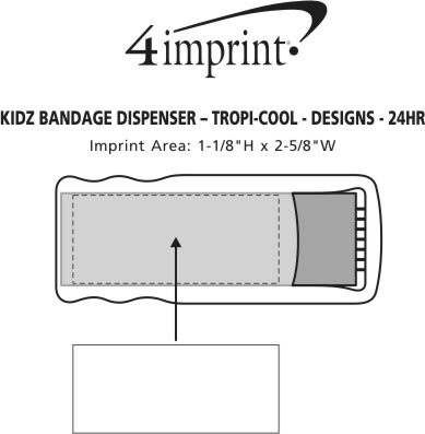 Imprint Area of Bandage Dispenser - Translucent - Designs - 24 hr
