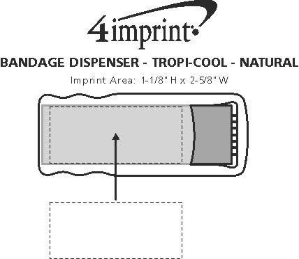 Imprint Area of Bandage Dispenser - Translucent - Natural