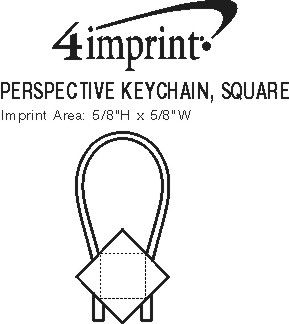 Imprint Area of Perspective Keychain - Square