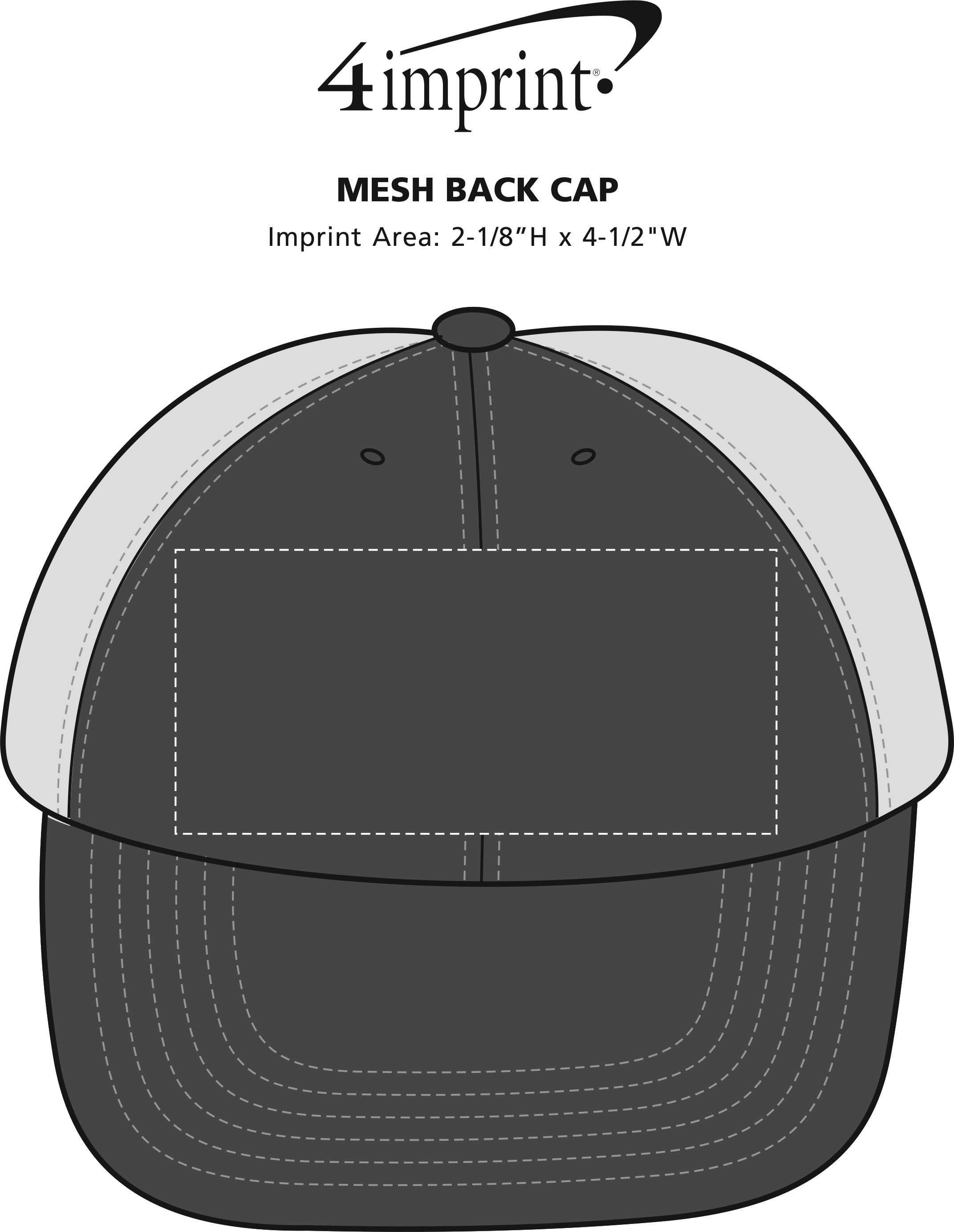 Imprint Area of Mesh Back Cap