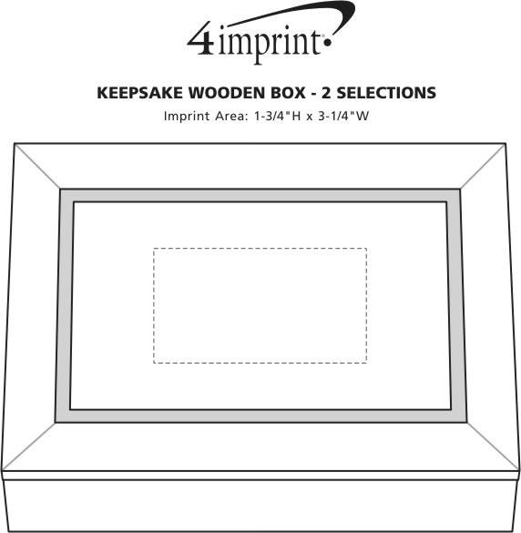 Imprint Area of Keepsake Wooden Box - 2 Selections