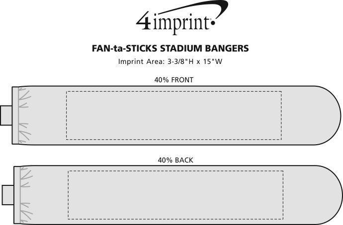 Imprint Area of FAN-ta-STICKS Stadium Bangers