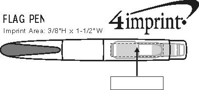 Imprint Area of Post-it® Flag Pen