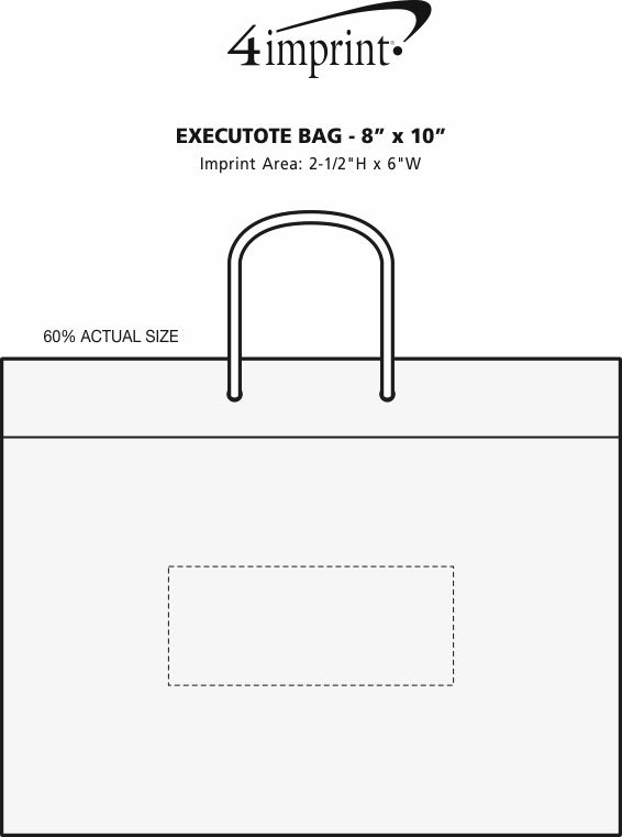 "Imprint Area of Executote Bag - 8"" x 10"""