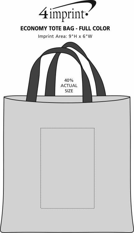 Imprint Area of Economy Tote Bag - Full Color