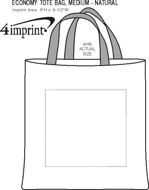 Imprint Area of Economy Tote Bag - Medium - Natural