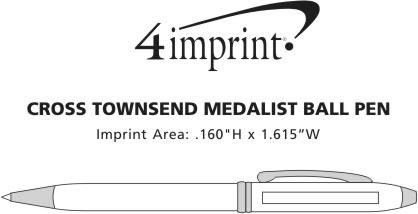 Imprint Area of Cross Townsend Twist Medalist Pen
