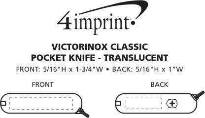 Imprint Area of Victorinox Classic Knife - Translucent
