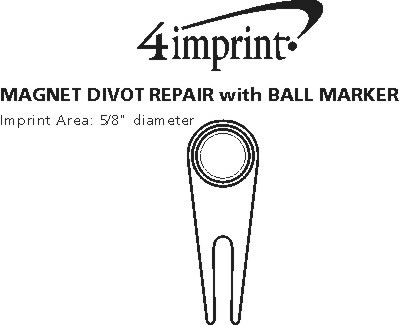 Imprint Area of Magnetic Divot Repair with Ball Marker