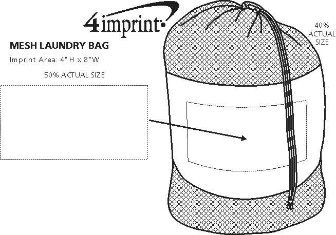 Imprint Area of Mesh Laundry Bag
