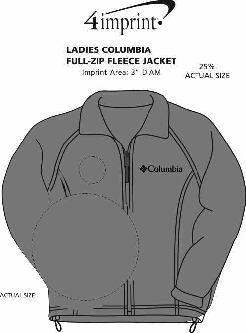 Imprint Area of Columbia Full-Zip Fleece Jacket - Ladies' - 24 hr