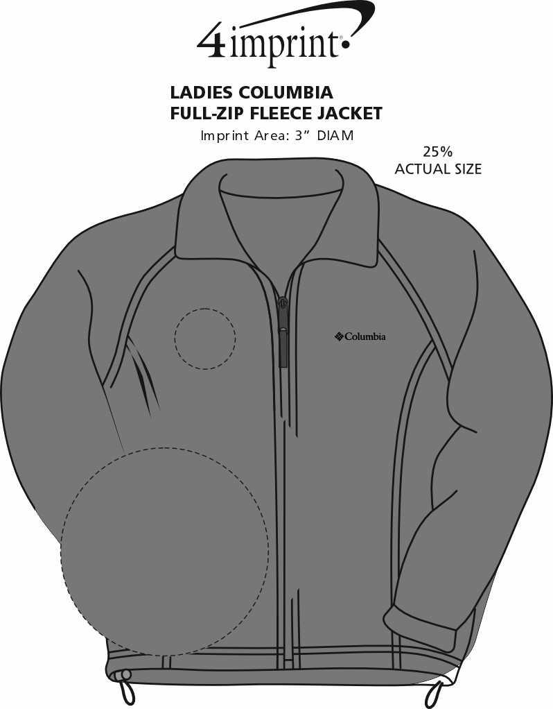 Imprint Area of Columbia Full-Zip Fleece Jacket - Ladies'