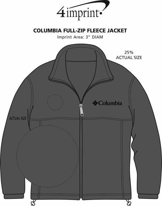 Imprint Area of Columbia Full-Zip Fleece Jacket - Men's - 24 hr