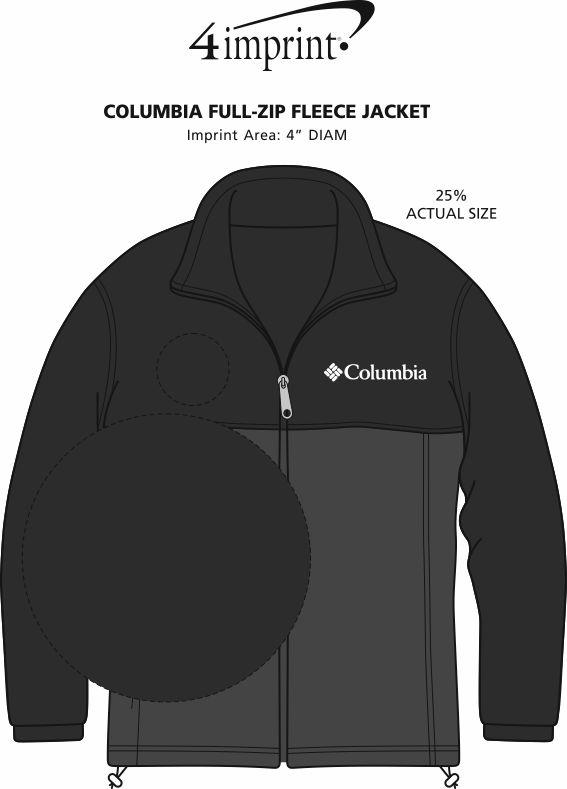 Imprint Area of Columbia Steens Mountain Colorblock Jacket - Men's
