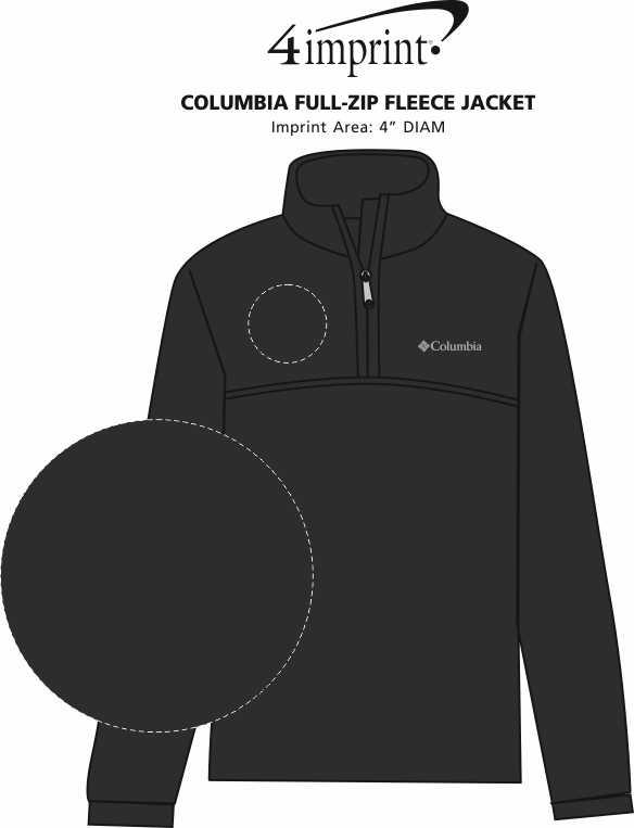 Imprint Area of Columbia Steens Mountain 1/4-Zip Fleece Pullover