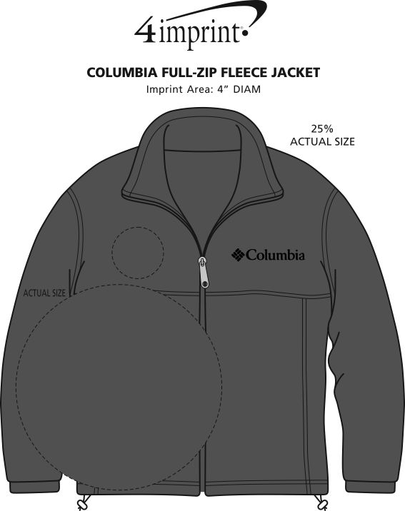 Imprint Area of Columbia Full-Zip Fleece Jacket - Men's