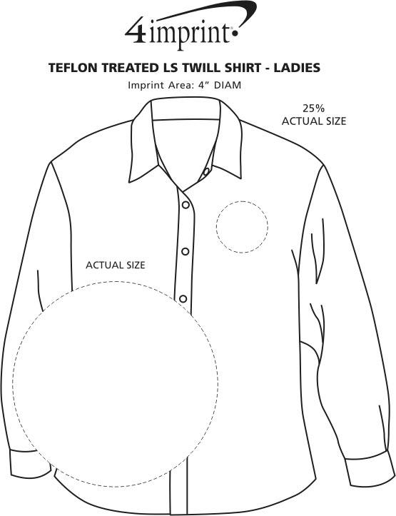 Imprint Area of Blue Generation LS Teflon Treated Twill Shirt - Ladies'