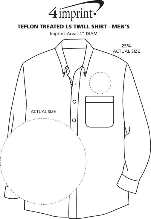 Imprint Area of Blue Generation LS Teflon Treated Twill Shirt - Men's